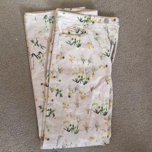 Rebecca Taylor Floral Jeans